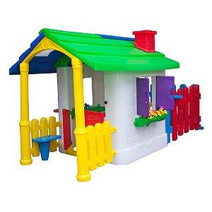 Casinha de Campo com Cerquinha Freso Brinquedos 260 × 160 × 140 cm - Ref. 31229-B