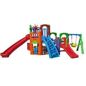 Multi Play House Com Kit Fly Freso Brinquedos 500 × 250 × 185 cm - Ref. 31223-B