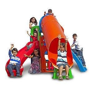 Royal Play TOP com escorregador, escada e tubo Freso Brinquedos 350 × 295 × 220 cm Ref. 31222-C