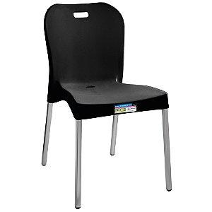 Cadeira com Pé de Alumínio sem Braço Paramount Cor Preta  - Ref. 371