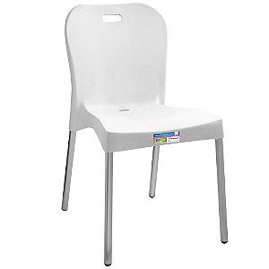Cadeira com Pé de Alumínio Sem Braço Paramount Cor Branca  - Ref. 361
