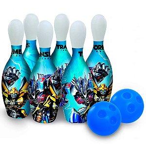 Boliche Transformers 6 Pinos e 2 Bolas Anjo Brinquedos - Ref: 9062