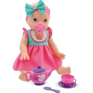 Boneca Bebê Hora do Chá com Cabelo Anjo Brinquedos - Ref: 2068