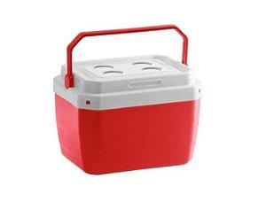 Caixa Térmica de Plaástico 17 Litros Paramount Vermelha 25 x 39 x 31 cm - Ref. 852