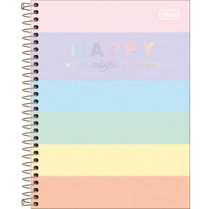 CADERNO COLEGIAL HAPPY COLOR 80F