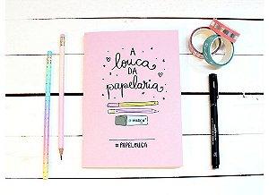 PapeJournal Mini- Papelouca- Pontilhado Rosa