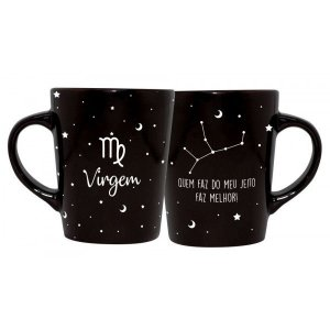 CANECA DECORATIVA CATARINA 270ML - SIGNOS - VIRGEM