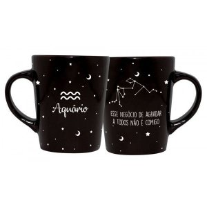 CANECA DECORATIVA CATARINA 270ML - SIGNOS - AQUARIO