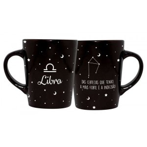 CANECA DECORATIVA CATARINA 270ML - SIGNOS - LIBRA