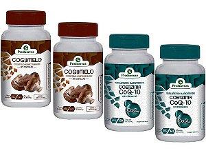 Cogumelo Agaricus Sol 120 E 2 Coenzima Q10 4 Potes Promoção