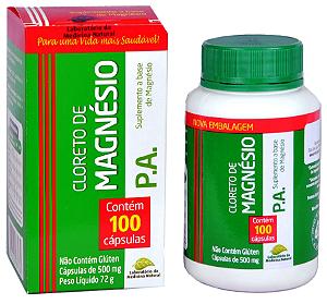 Cloreto de Magnésio P A 100 Capsulas Original Medinal 500 mg