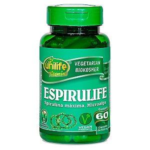 Spirulina O Que é Beneficios Super Alimento 60 capsulas 500 mg