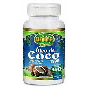 Óleo de Coco Puro Extra Virgem 60 capsulas 1200 mg