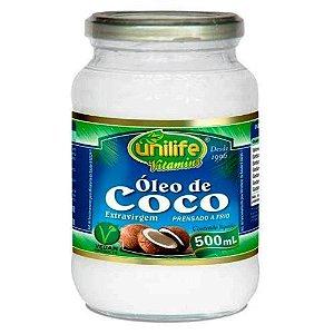 Óleo de Coco Puro Extra Virgem Frasco de 500 ml.
