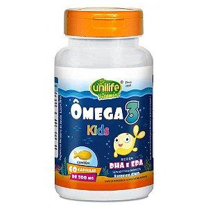 Suplemento de Ômega 3 Para Crianças 60 capsulas 500 mg