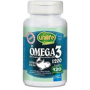 Ômega 3 Beneficios Óleo de Peixe Para Que Serve 120 caps 1200 mg