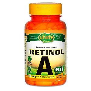 Vitamina A Retinol 60 capsulas 500 mg