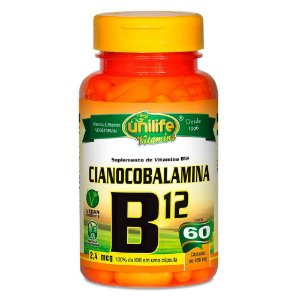 Vitamina B12 Cianocobalamina 60 capsulas 450 mg