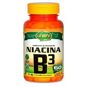 Vitamina B3 Niacina 60 capsulas 500 mg