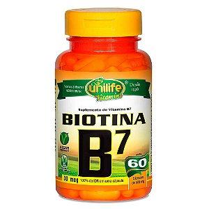 Vitamina B7 Biotina 60 capsulas 500 mg