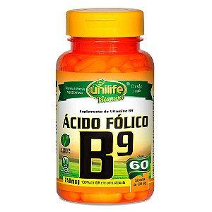 Vitamina B9 Ácido Fólico 60 capsulas 500 mg