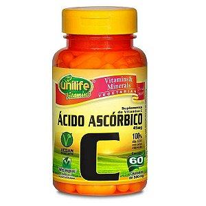 Vitamina C Ácido Ascórbico 60 capsulas 550 mg