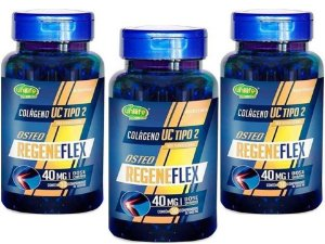 Colágeno UC TIPO 2 Regeneflex 90 comprimidos 1 g Kit 3 Frascos