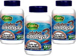 Alpha Omega 3 Oleo de Peixe Salmao Importado 270 cps 1g