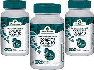 Coenzima Q10 Ubiquinona 180 Cápsulas 100 Mg Energia Celular
