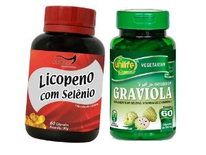 Saude da Prostata Graviola Cápsulas e Licopeno com Selenio 2P