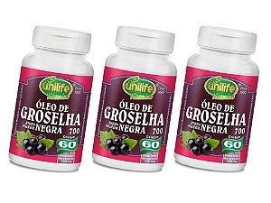 Óleo Groselha Negra 180 Cápsulas 700 mg 16 Benefícos
