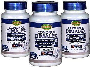 Magnésio Vitamina K2 Colágeno Tipo 2 e D3 Saúde 100%