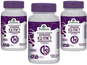 Vitamina K2 Manutenção Ossos 180 Cápsulas MK7 Pra Que Serve