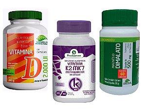Magnesio Dimalato Vitamina K2 e Vita D3 Beneficios 3 Potes