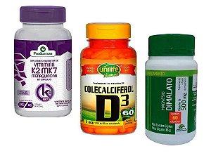 Magnesio Dimalato + D3 + K2 Saúde Cardio Óssea Energia 6 Potes