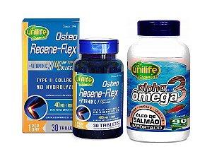 Colageno Tipo 2 Colagen Kartilax + Omega Salmão 2 Potes