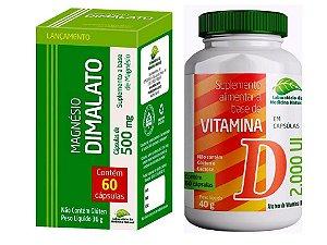 Magnésio Dimalato E Vitamina D3 Articulações Ossos Fortes