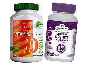 Vitamina K2 Menaquinona e Vita D3 Colecalciferol 2 P