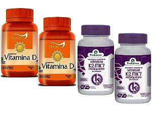 Vitamina K2 Menaquinona e Vita D3 Colecalciferol 4 P