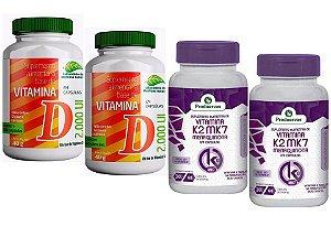 Vitamina K2 Menaquinona e D3 Saúde Óssea e Imunidade 4P