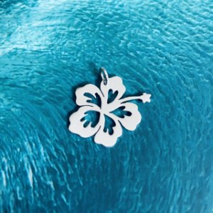 Pingente Flor de Hibisco - Prata 950