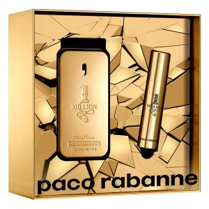 KIT PERFUME 1 ONE MILLION EAU DE TOILETTE PACO RABANNE 50ML + TRAVEL SPRAY 10MI - INCOLOR