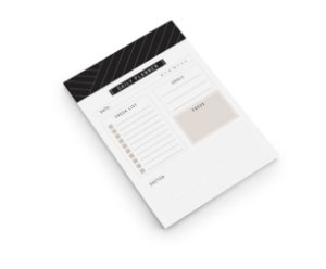 Bloco Planner TO DO Noir A5