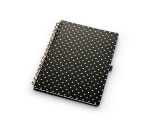 Caderno Pois Black Gold