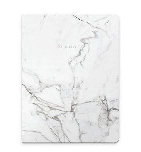 Planner Revista Marmore Branco
