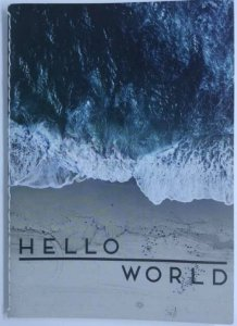 Caderno Pocket A6 Water Hello World