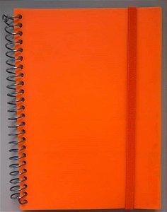 Caderno P Splash Laranja Neon Pautado