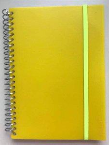 Caderno P Splash Amarelo Neon Pautado