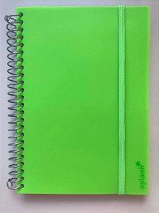 Caderno P Splash Verde Neon Pautado