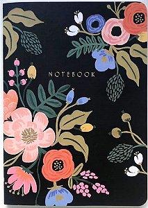 Caderno Flexível Black Fleur
